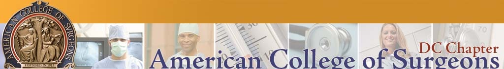 DC Chapter, American College of Surgeons. Click logo for home page.