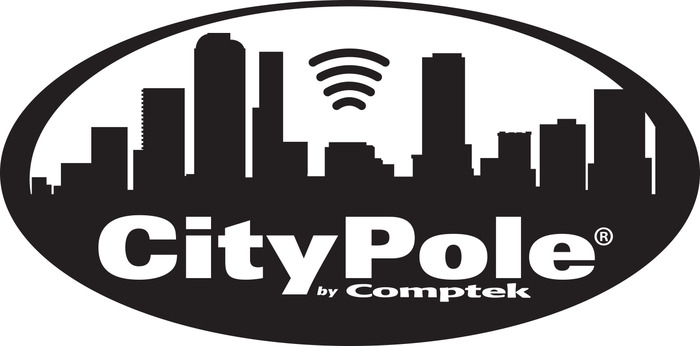 City Pole Logo Bw