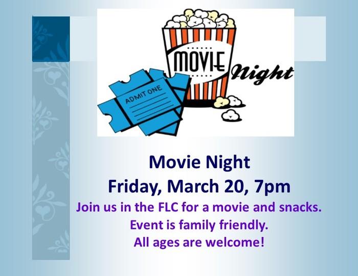 Children's Ministry March 2020 Movie Night