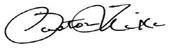 Pastor Mike Signature