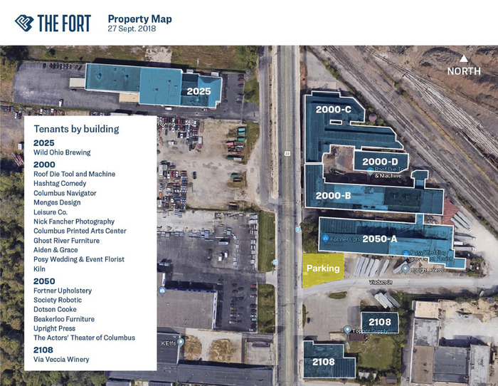 Overhead Tenant Map Parking Outlined