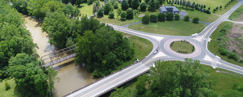 Orange Rd bridge and roundabout