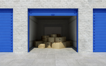 Filled Storage Unit
