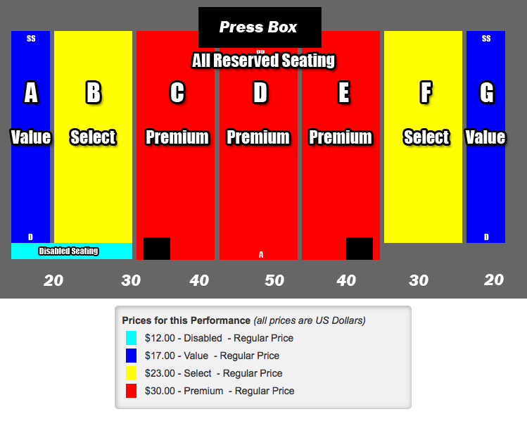 2014 ECMG Seating Map