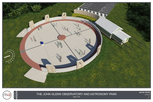 Observatory Illustration Aerial Study