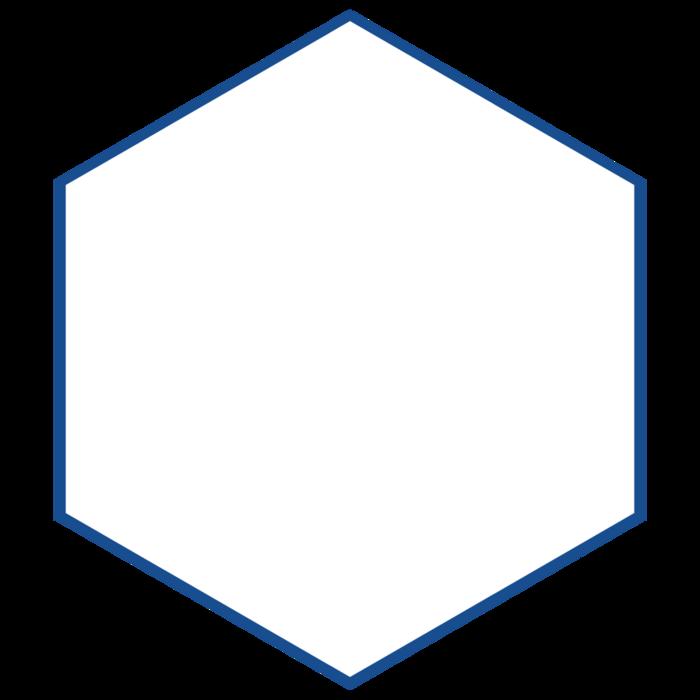 blue hexagon