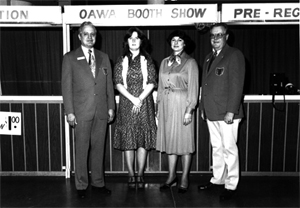 OAWA Staff- L-R  Wm. Wodicka- Patty Hughes- Sharon Croxton- Jack Campbell