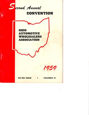 OAWA 2nd Annual Convention Membership Book 1959