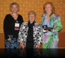 2010 Fellows Lisa Severy left and Debra Osborn right with Pat Schwallie-Giddis