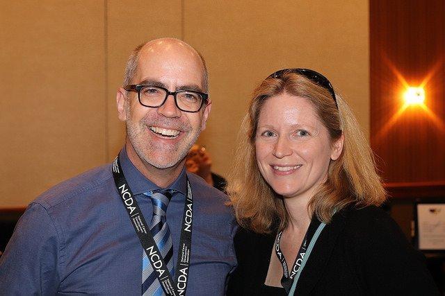 Paul Timmins and Julia Makela