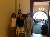 Kellie Bray, CropLife America; Kate Flocken, Senator Portman's Legislative Aide for Agriculture; Chris Henney, OABA President and CEO