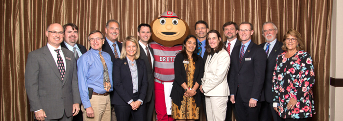 Ohio ACEP Board of Directors with Brutus at the 2015 EM Forum