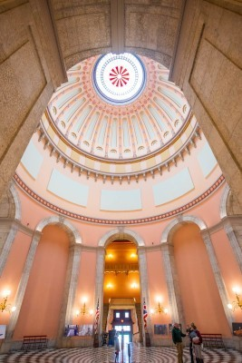 The view of the Rotunda from the Statehouse Atrium