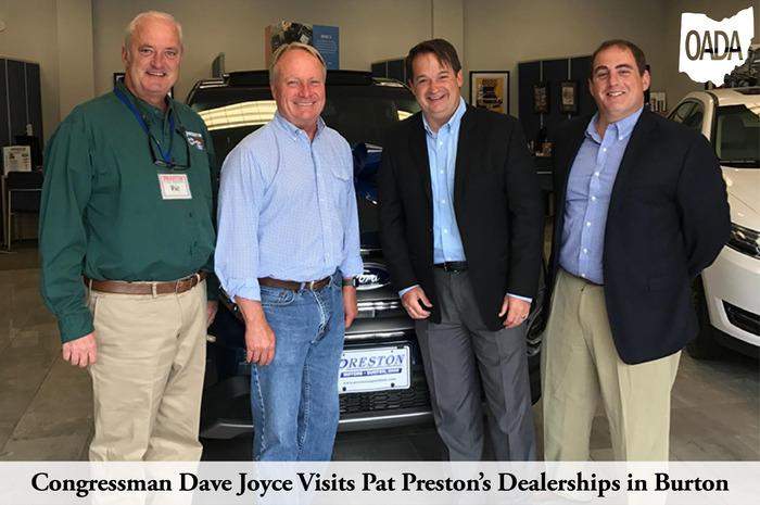 Congressman Dave Joyce Visits Pat Prestons Dealerships in Burton
