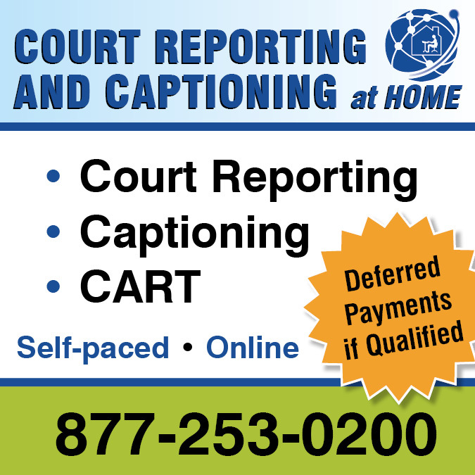 Court Reporting and Captioning at Home