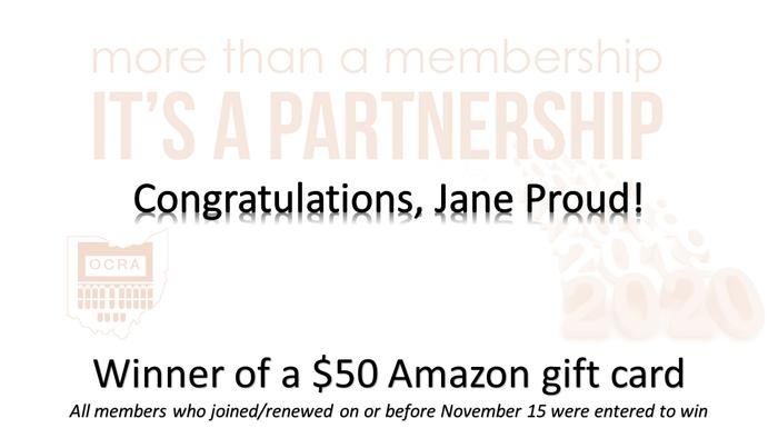 Congratulations Jane Proud