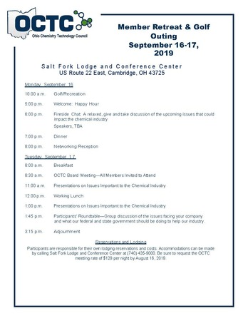 2019 Retreat Draft Agenda