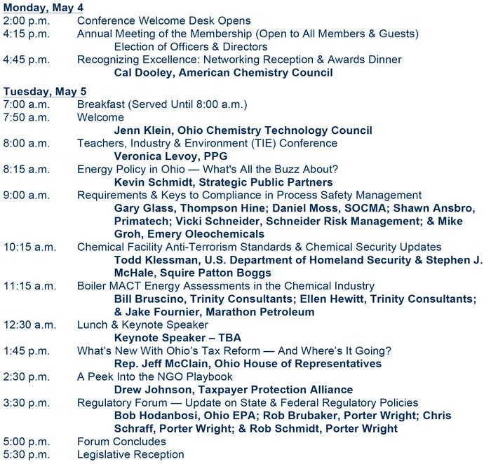 2015 Octc Annual Conference Agenda
