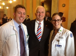 Ou Hcom Students Nate Overmire Oms Iv And Elizabeth Snajder Oms I With Rep Terry Johnson Do Sponsor Of Hb 443