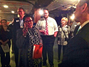 Rep. Marcia Fudge speaks during the OU-HCOM Congressional Reception