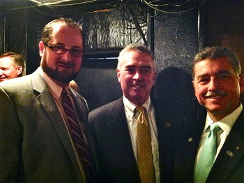 Rep. Brad Wenstrup DPM with OOA President Robert L. Hunter DO and AOA President-Elect Robert S. Juhasz DO.