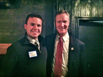 Rep. Steve Stivers with OU-HCOM Student Matt Gusler