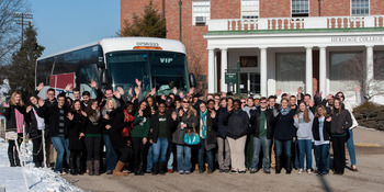 OU-HCOM students get ready for the long trip to Washington
