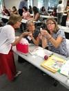 Amy Bennett OPA Assistant Executive Director discusses immunization technique.