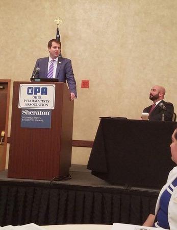 Rep. Derek Merrin speaks at 2017 OPA Pharmacy Student Legislative Day