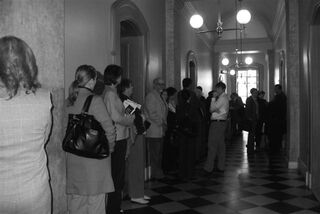 Pharmacists at the State House waited to attend the House Health Committee hearing on Pharmacy Legislative Day.