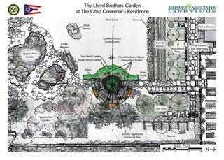 Landscaping design for Lloyd Medicinal Garden at the Governors Residence