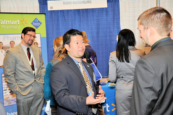 Networking at the capacity-filled Trade Show