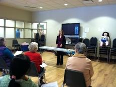 Anna at Senior Center