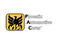 Phoenix Automotive Cores Logo Clear Black Letters Outline 'Pac' Solid 6000px