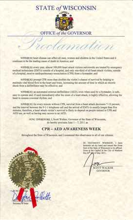 CPR/AED Proclamation