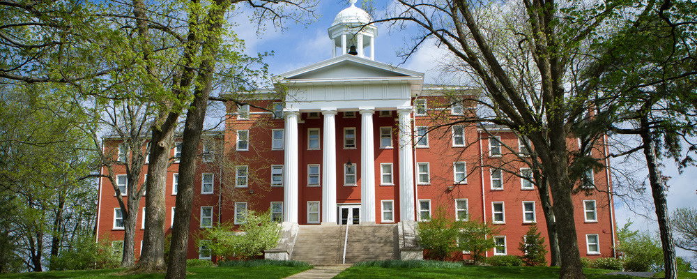 Myers Hall on the campus of Wittenberg University