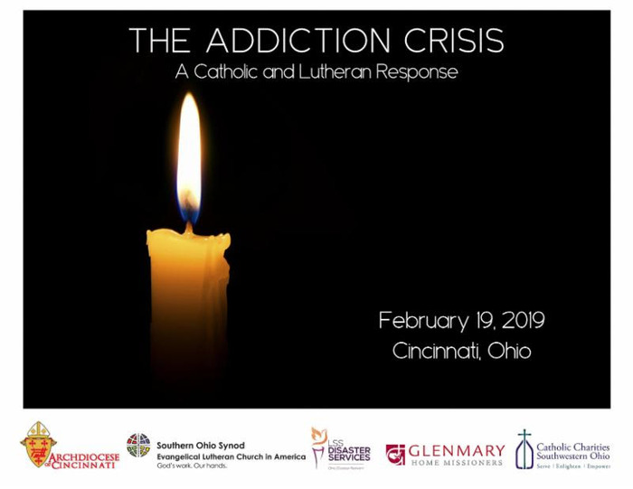 Addiction Crisis Candle and Sponsor Logos