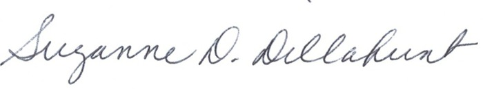 Bishop Suzanne Dillahunt Signature