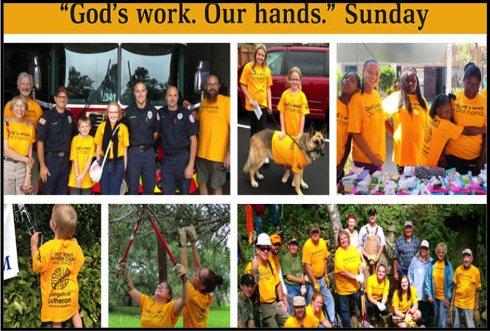 Gods Work Our Hands Sunday Collage