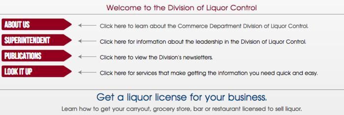 Division Of Liquor Control