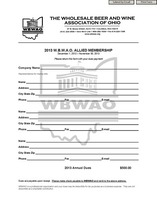 2013 Allied Membership Dues Form