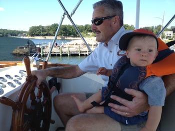 Hal Slater and grandson